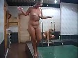 Mature Russian Sex In A Bathhouse