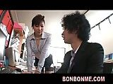 Busty Japanese banged in office