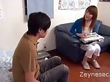 Asian Mom Seduces A Man For A Hand Job