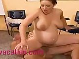 Pregnant milf opens wide for dirty old man!