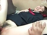 Japanese in uniform gets licked