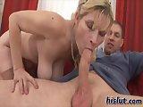 Gabi gets a cumshot