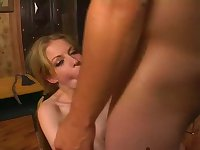 Haley Scott gagged and fucked