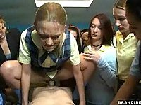 Schoolgirl Fucking A Teacher With Schoolmates Watching