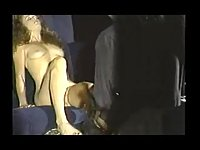 Horny milf does blowjob for mature