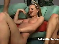 Kinky babysitters in crazy threesome
