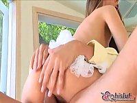 Jenna Haze banged in white stockings