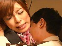 Japanese slut banged at work