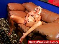 Nasty granny stripping
