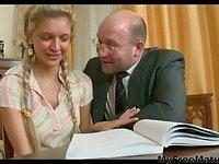 Blonde Babe  With Teacher