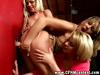 CFNM matures do as they please with gloryhole slong