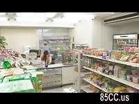 Cute convenience store staff fucked by boss