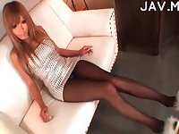 Jap pantyhosed foot fetish