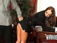 Secretary Babe Giving Blowjob