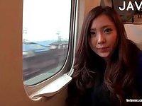 Furious japanese girl in pantyhose