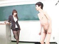 CFNM cock jerking scene 3