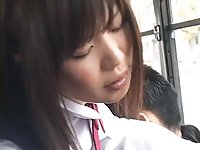 Innocent Teen groped to orgasm on a bus scene 3