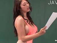 Sexy teacher masturbating