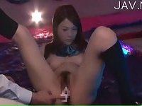 Titty Japanese hairy cunt toyed