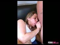 Cuckold GF Gets A Creampie From A Stranger
