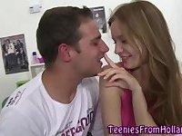 Teen hottie gets licked