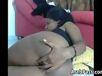 Arab Slut Teasing Her Pussy