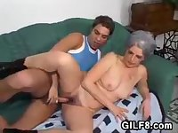 Young Guy Loves Old And Hairy Pussy