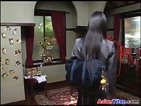 Asian Schoolgirl And Her Slave