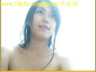 Nude Asian before webcam
