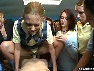 Schoolgirl Fucking A Teacher With Schoolmates Watching
