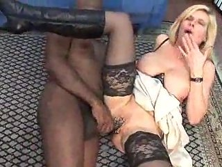 Busty pierced mature analed by black cock