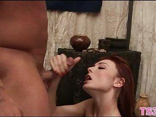 Redhead hottie gets drilled hard