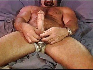 CBT Muscle bear self ball punishment.