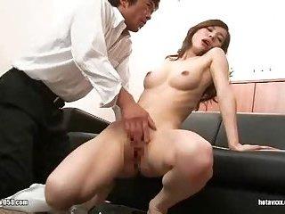 Jap girl toyed & fucked