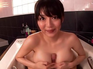 Busty japanese pov style in the bath | Big Boobs Update