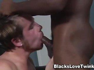 Gay gets ebony cock
