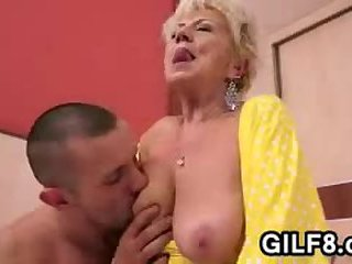 Chubby Blonde Granny Is Horny