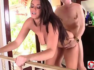 Hot brunette gets a good fuck