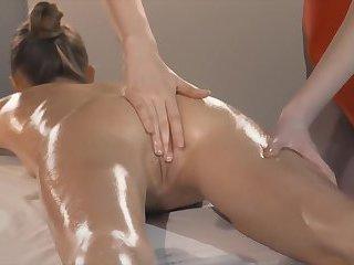 Female gets Aesthetic lesbian massage